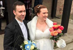 Hochzeitsbild eines Brautpaares